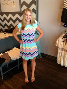 This dress is ($39) love the color combination on this!