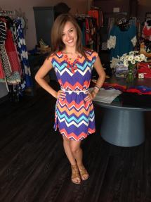 One of our most popular dresses is back in a new adorable color combination, Dress $39 Belt $10