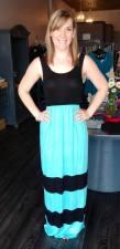 Tank Maxi Dress in Mint and Black 35.00