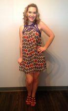 Royal Blue Aztec Dress 29.00