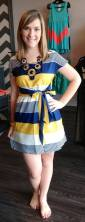 Summer Harvest Dress 25.00 and comes in small to large. Lindsey is wearing a small and is 5'6