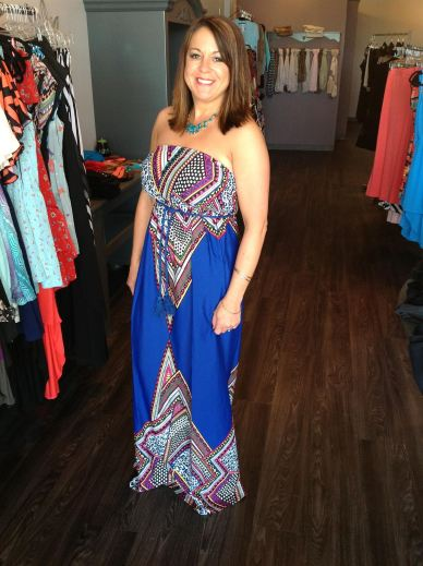 Royal Blue Maxi 49.00 this also comes in Tomato Red